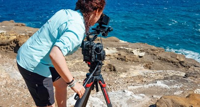 Renea Veneri Stewart of Rock Salt Media on Location With the New flowtech100 Carbon-Fibre Tripod